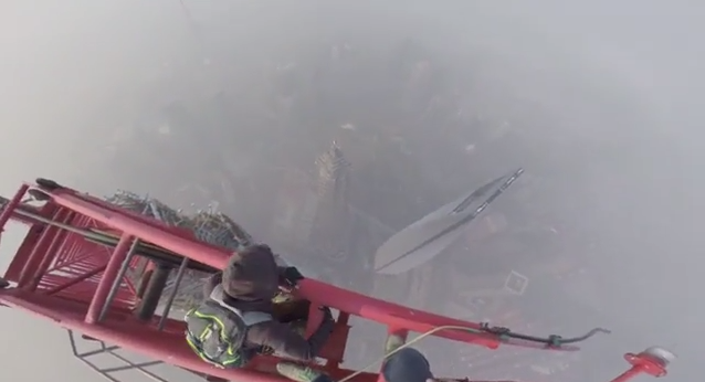 Shanghai tower climbing 650 meters